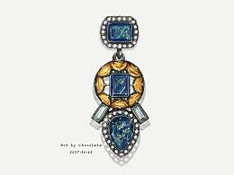【珠宝首饰手绘+电脑后期步骤图】
