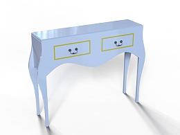 AutoCAD家具建模练习案例梳妆台