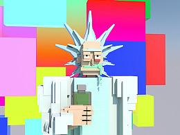 Rick and Morty || C4D 8bit练习