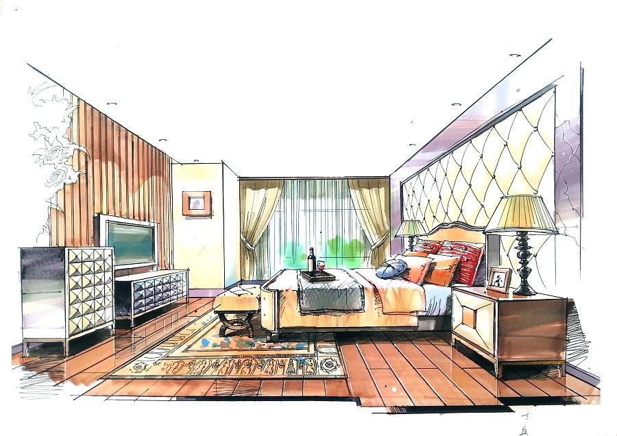 室内设计方案空间手绘表达|室内设计|空间/建筑|wj