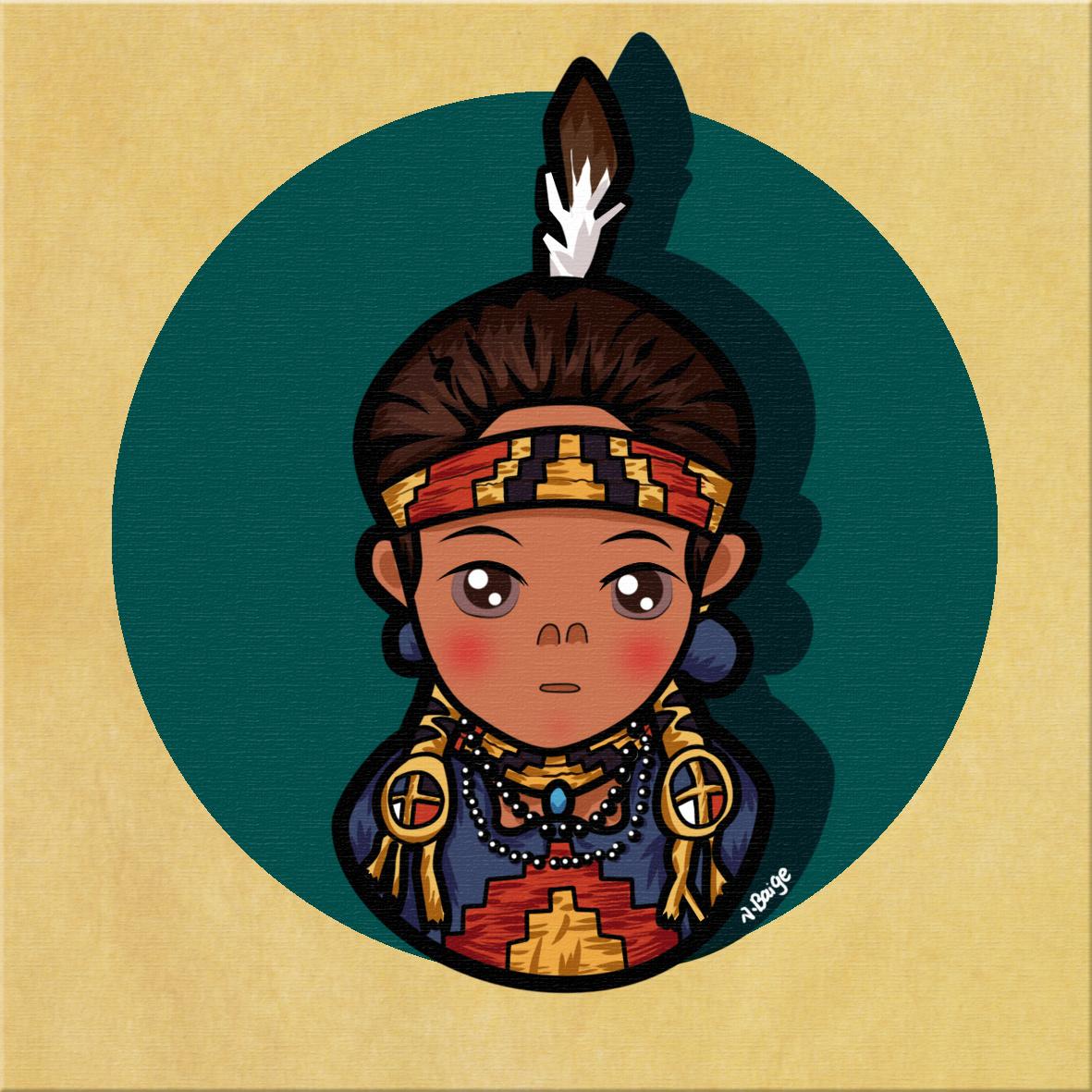 印第安卡通头像|动漫|肖像漫画|小柏阁 - 原创作品图片