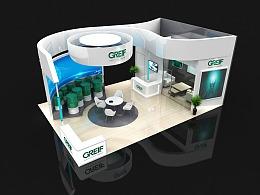 GREIF展会展台展位3D效果图设计