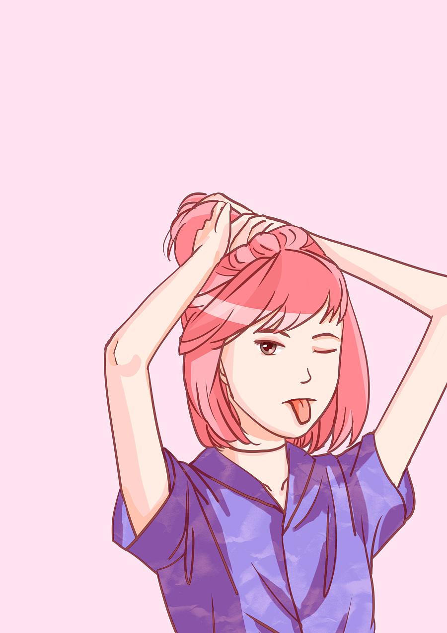 短发女生漫画图片手绘/短发漫画女生图片素描/女生短发发型图片2017