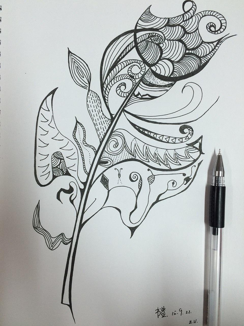 书签图案简笔画