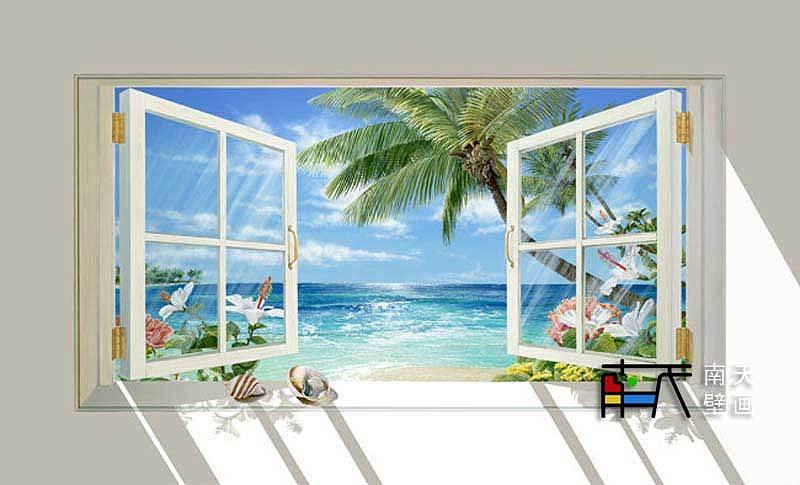 南天壁画出品:室内3d壁画设计方案-荧光壁画,手绘油画