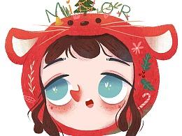 圣诞主题可爱头像设计