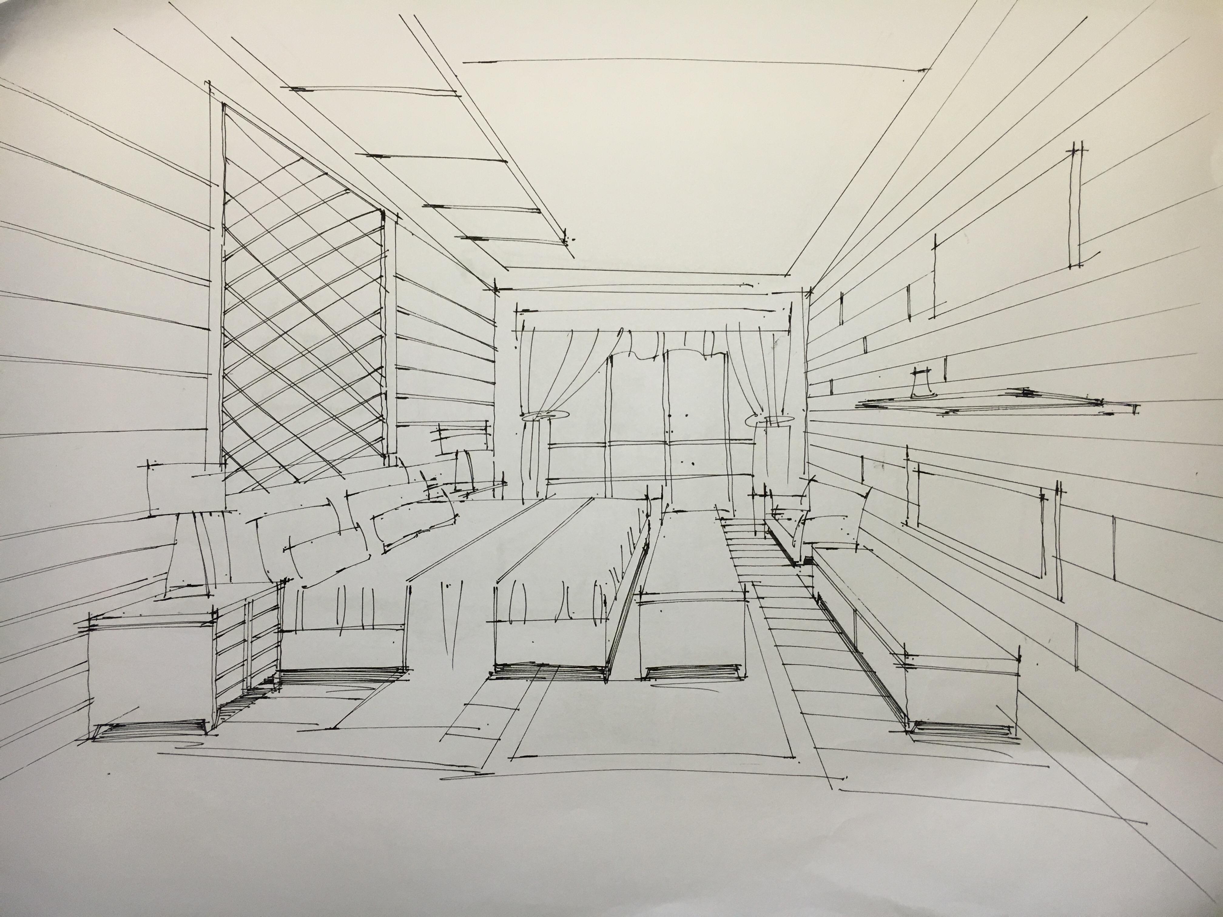 室内手绘线稿|空间|室内设计|zcl郑 - 原创作品