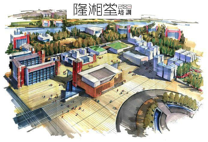 建筑学,城市规划,快题设计,高清效果图,马克笔