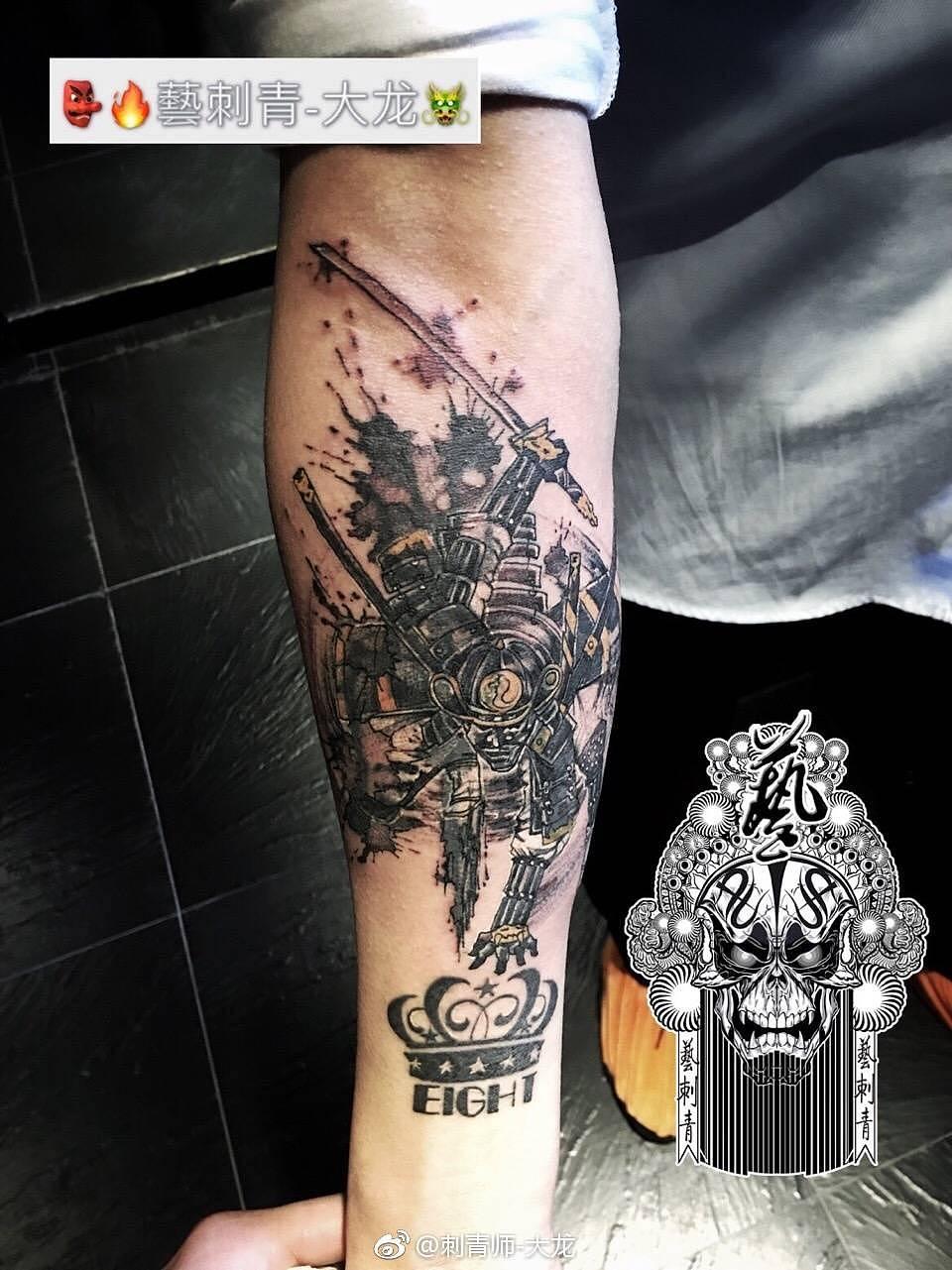 武士纹身(遮盖)#北京文身##刺青师大龙##刺青