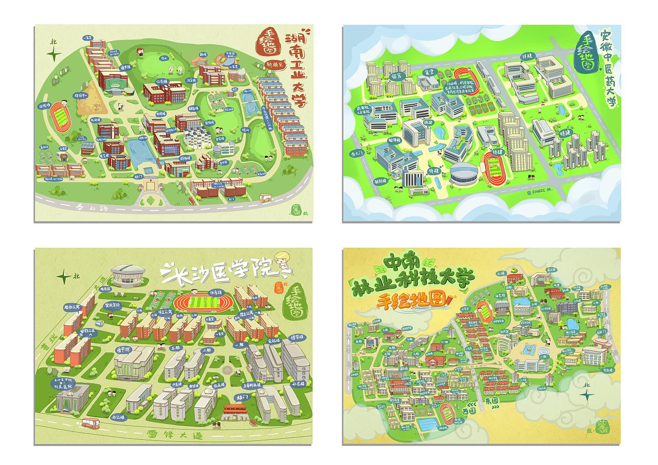 广东海洋大学-手绘地图