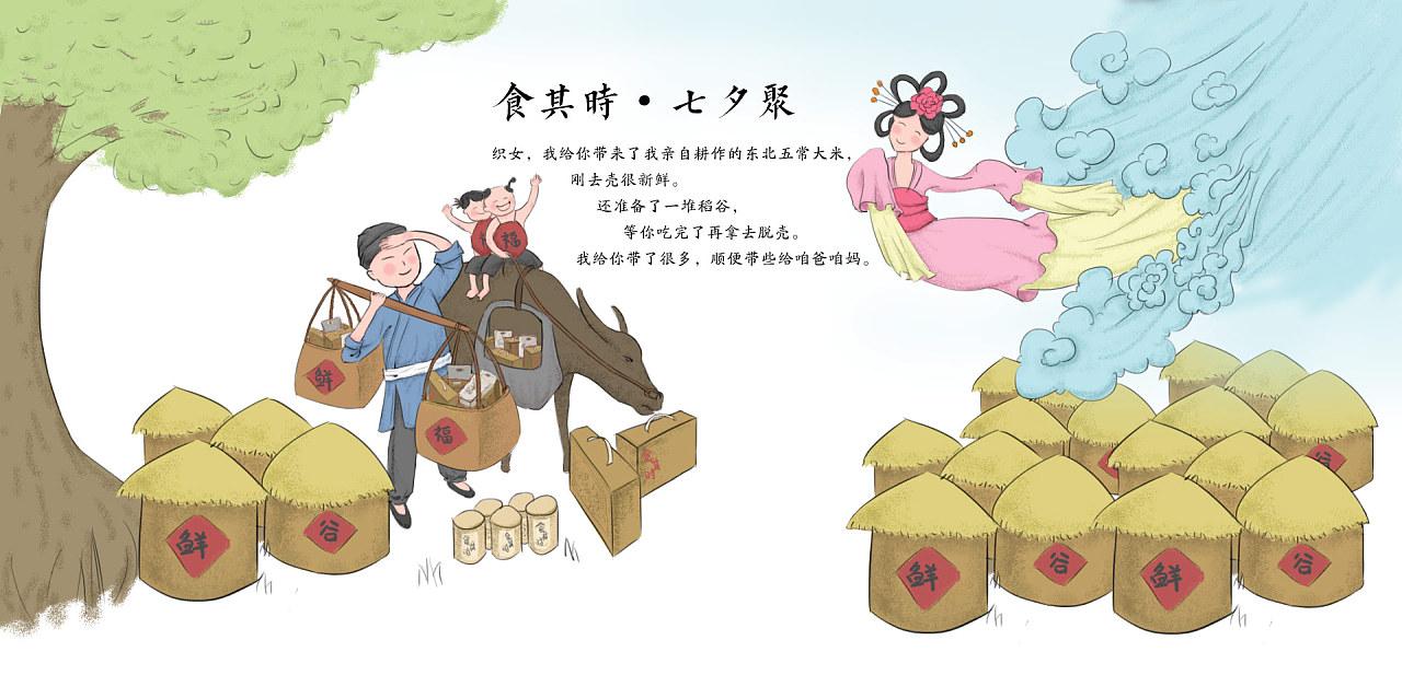 手绘七夕海报
