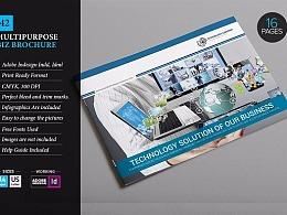 16页科技商务团队多用途画册模板