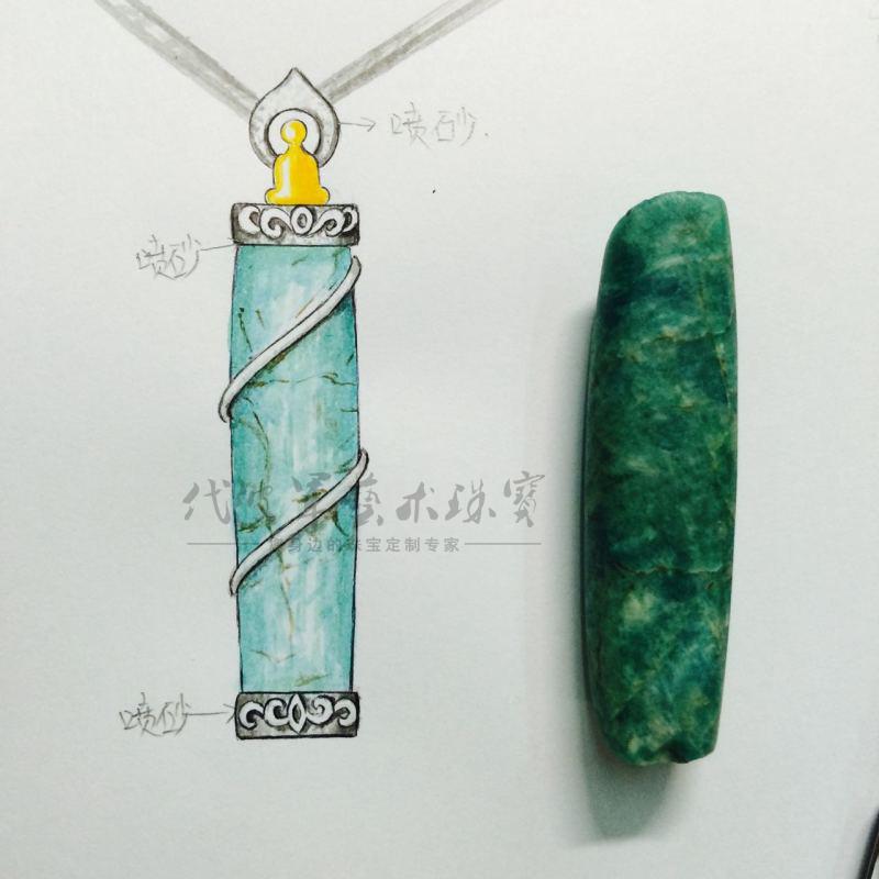 珠宝设计手绘图纸