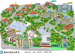 学校手绘地图
