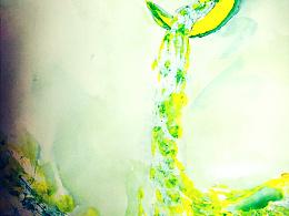 手绘水彩—《月》
