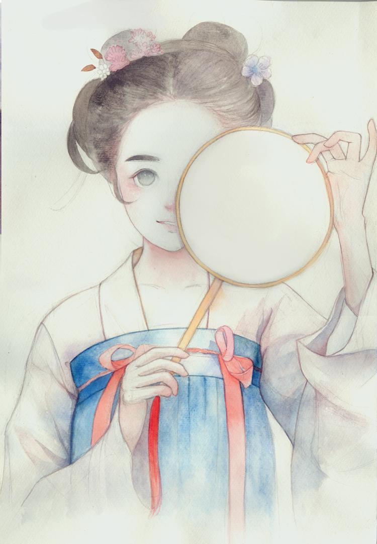 近期的水彩古装人物|绘画习作|插画|莫垃