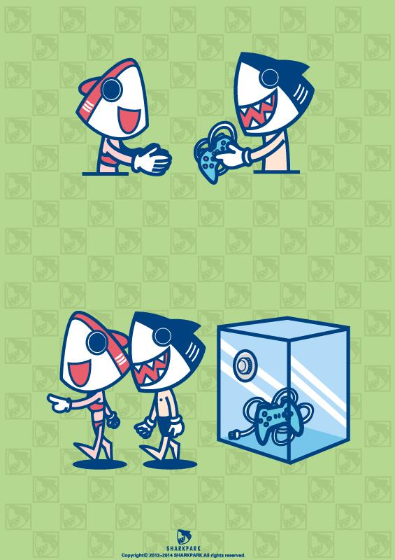 霸气鲨鱼卡通图片