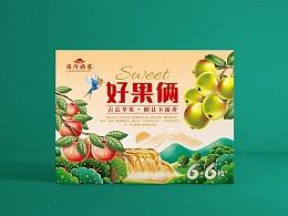 善行研创一临汾好农好果俩6加6组合装包装设计