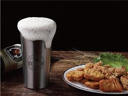 Leasy品牌不锈钢啤酒杯摄影