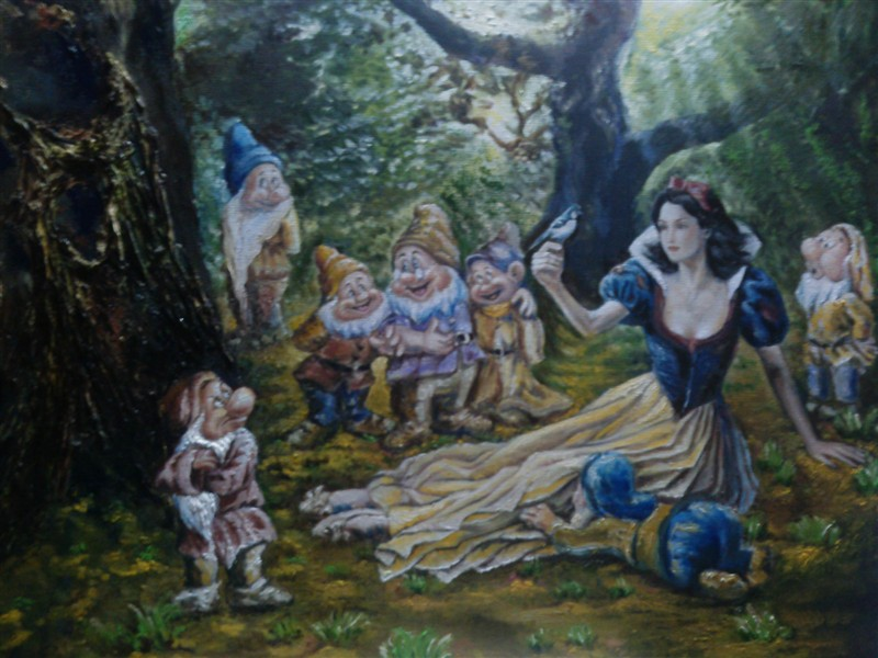白雪公主小矮人纹身分享展示