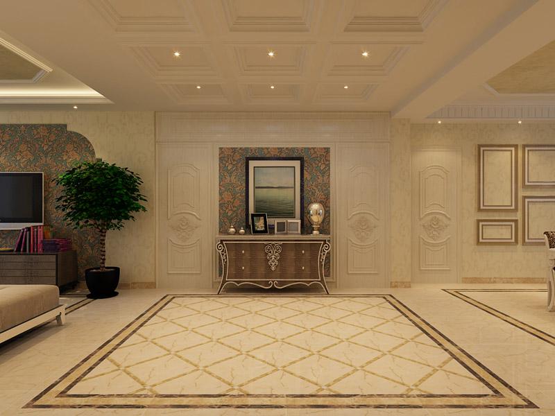 世纪花园110㎡三室两厅现代欧式风格装修效果图-金舍