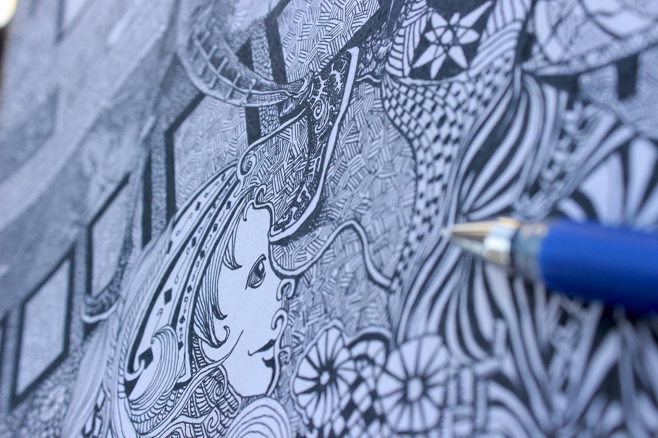 水笔手绘-装饰画2