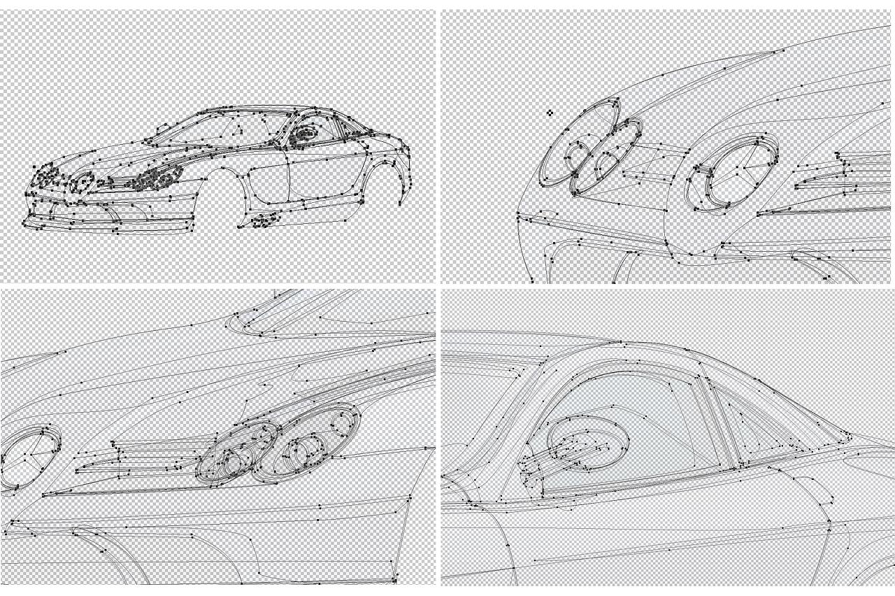 软件:ps 详解:奔驰汽车修图和绘图,不用3d也能做出你想要的立体