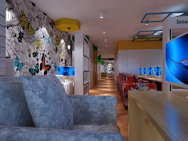 丽江网吧设计 丽江网吧装修设计 丽江网吧设计公司-毕图片