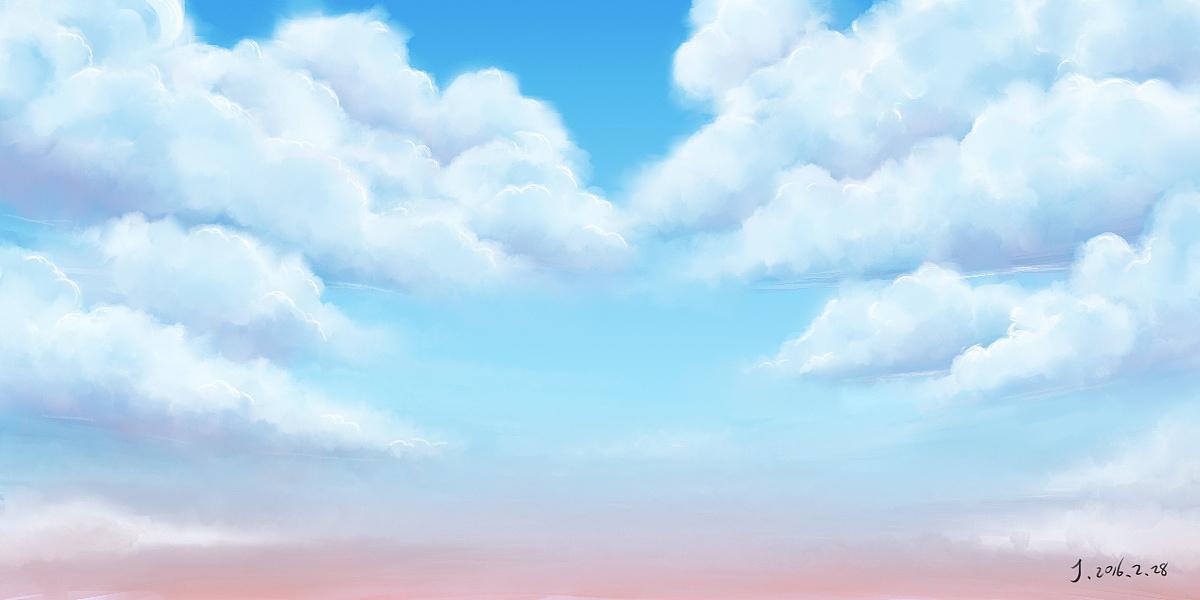 手绘天空电脑壁纸