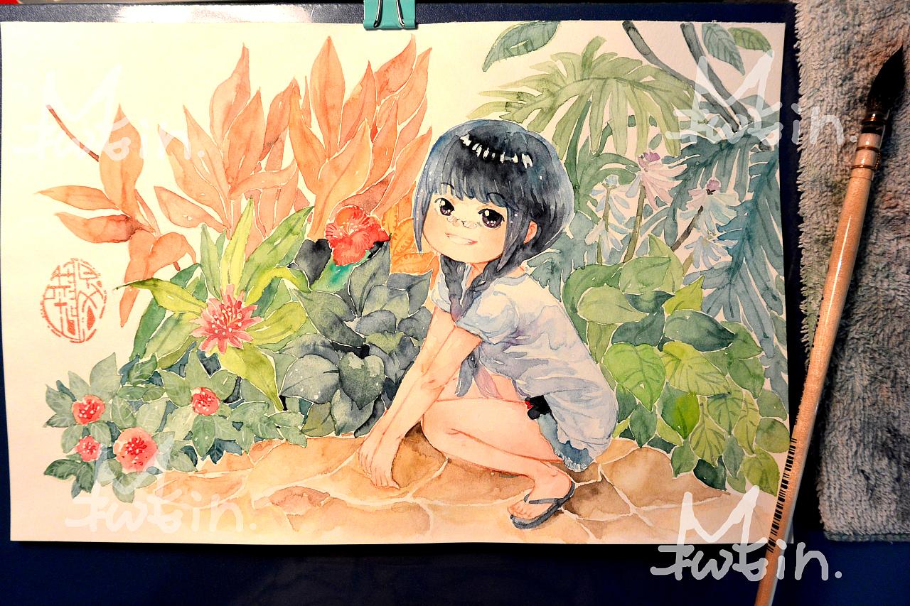 旅游小景点~水彩手绘