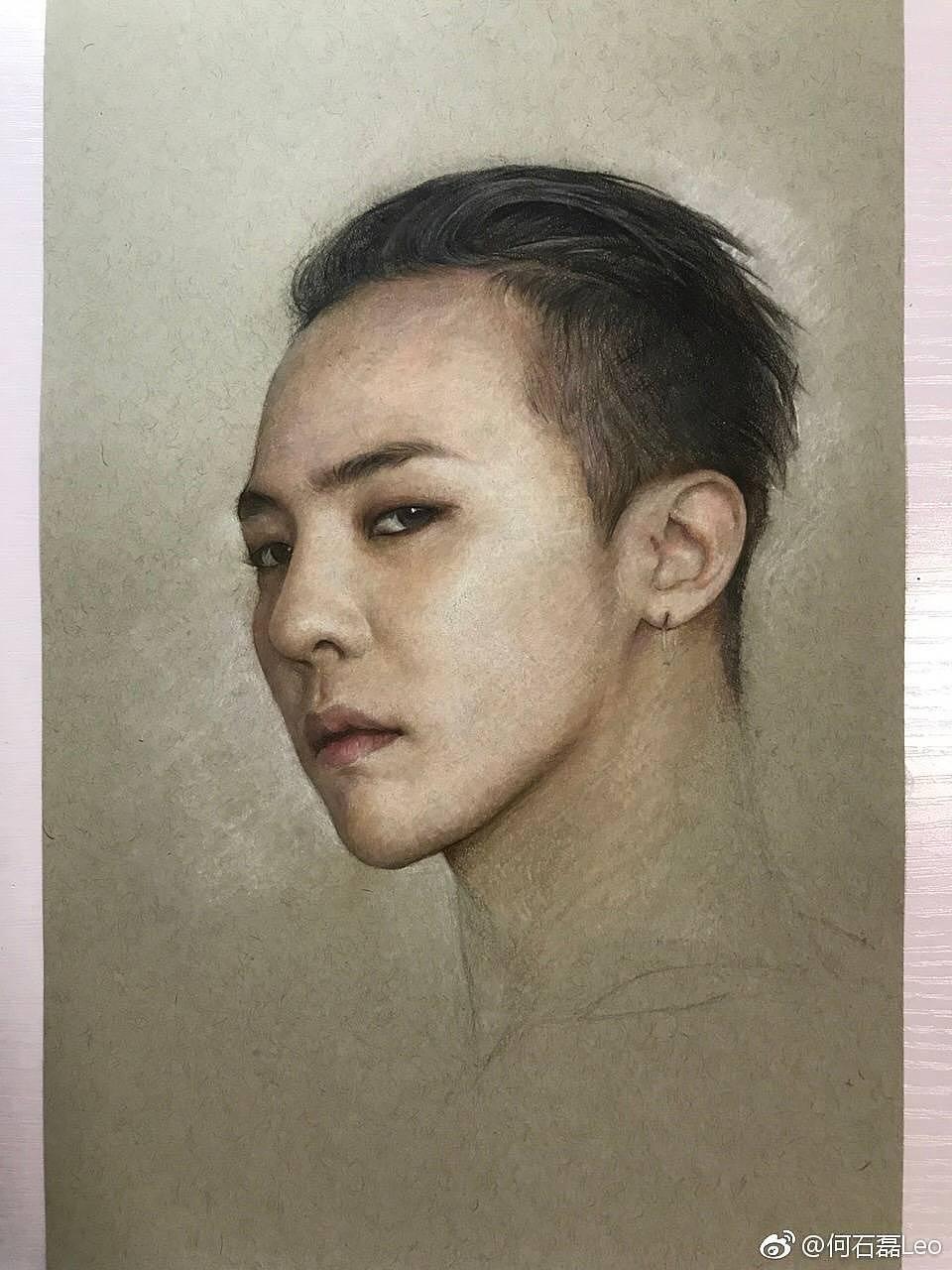 彩铅人物-gd权志龙