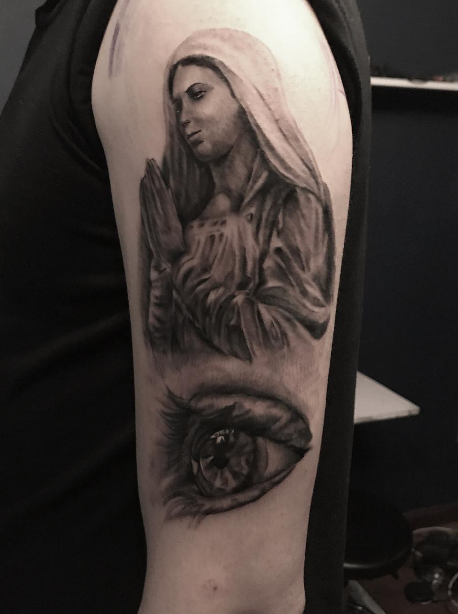 欧美写实纹身 个人纹身作品图片