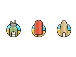 Illustrator中创建夏季图标