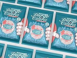 Purge Calorie 热量清除计划-无脂鸡胸肉丸包装设计