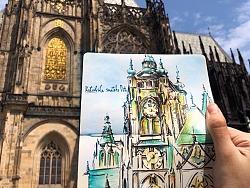 布拉格维也纳旅行速写本