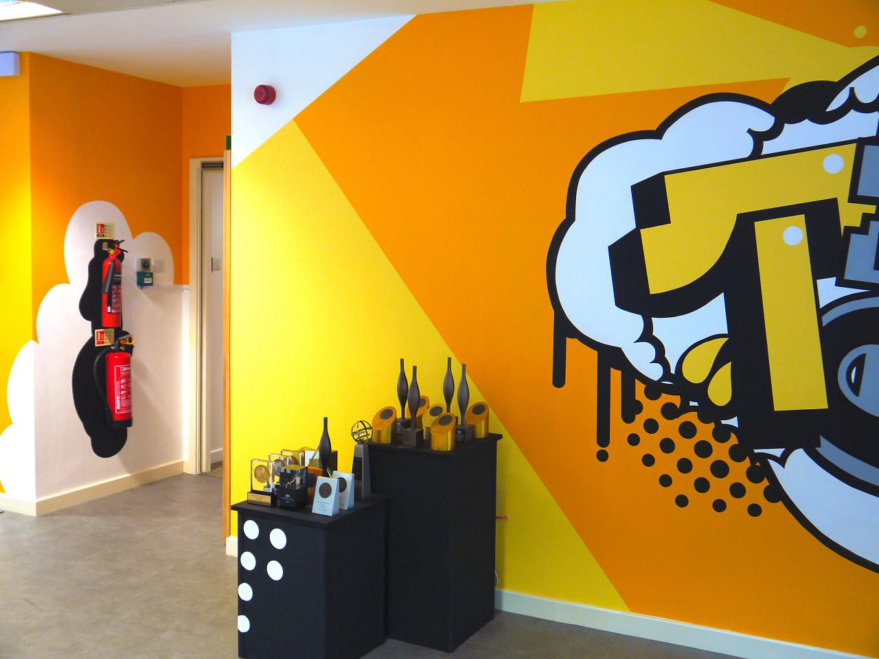 天津墙绘团队_天津淘宝网手绘墙_天津涂鸦墙绘_立体画