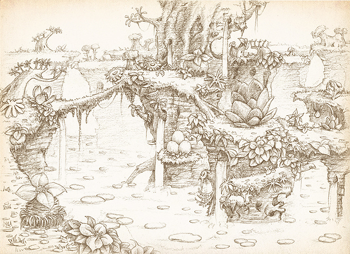 《幻灵童话》线稿2花海