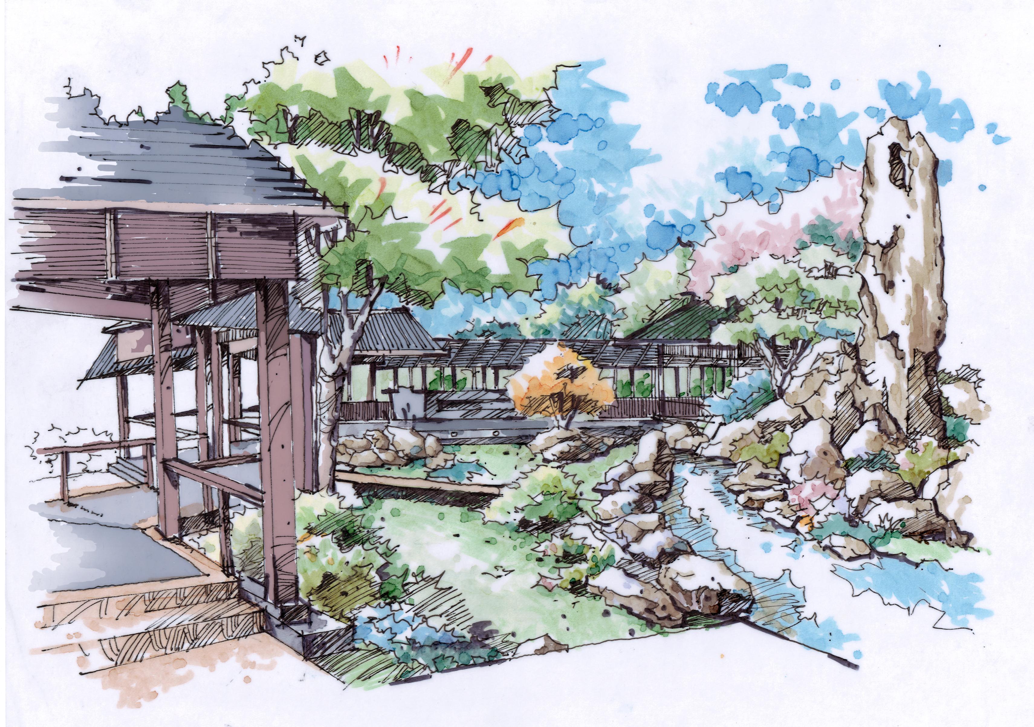 景区设计手绘(2012)|空间|景观设计|王麓子 - 原创