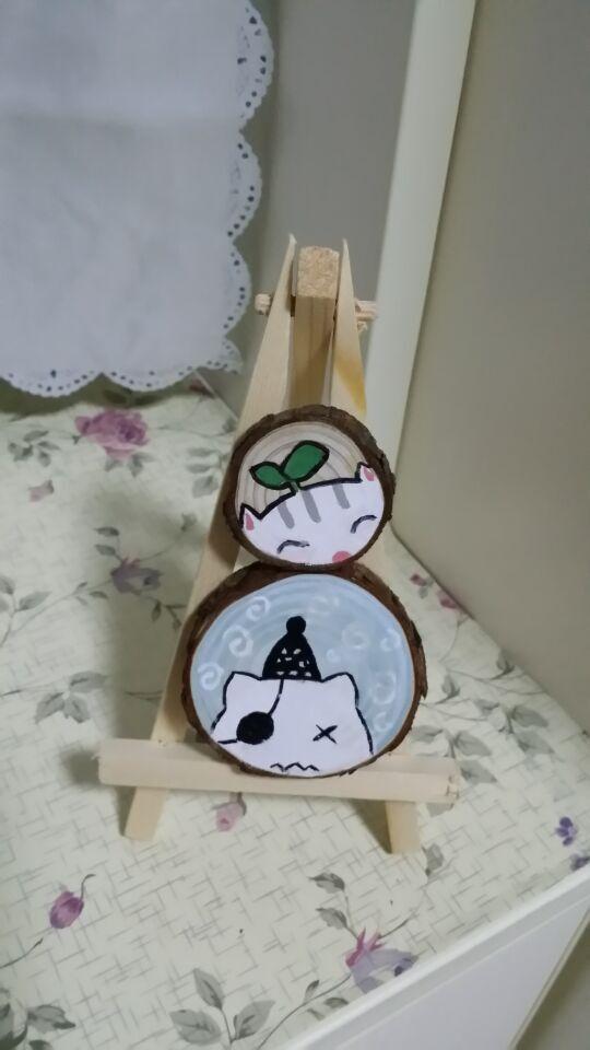 一些创作的手绘包包和装饰木片|其他|其他|