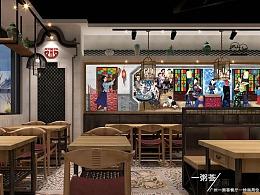 广州一粥荟餐厅艺术设计与制作