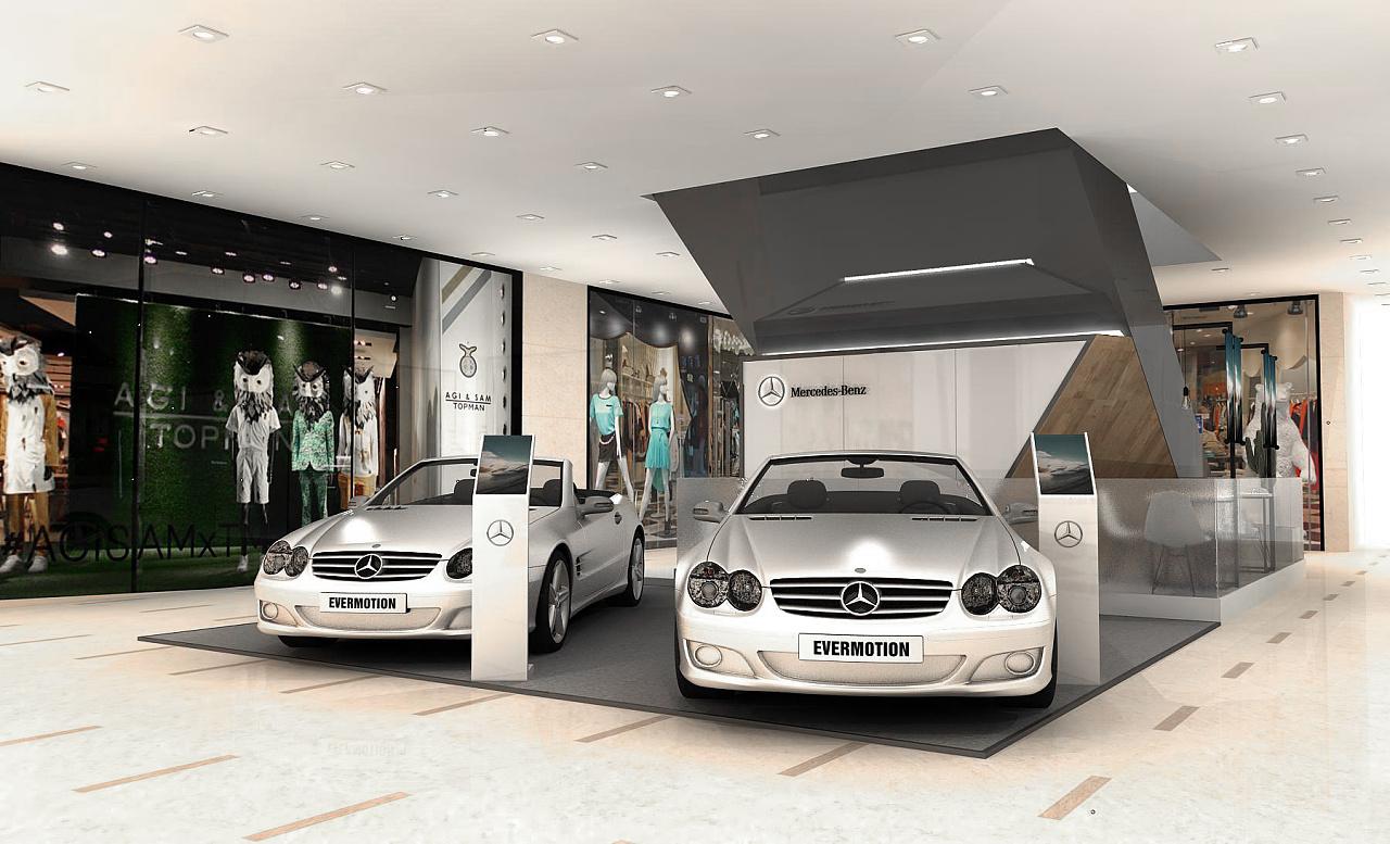 奔驰商场展示设计