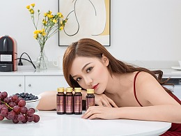 针叶樱桃胶原蛋白植物饮品口服液酵素代餐拍摄