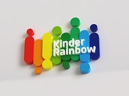 KinerRainbow瑞英堡 儿童双语幼儿园 logo设计