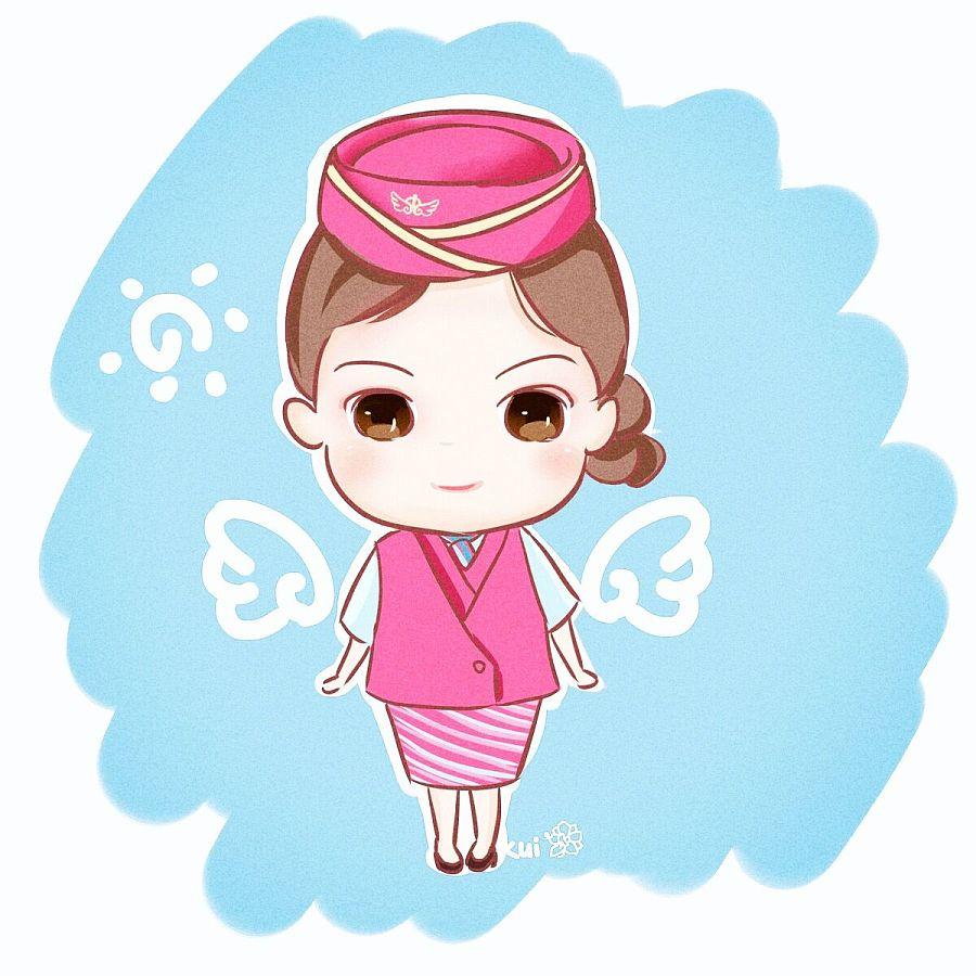 空姐卡通_原创作品:小空姐