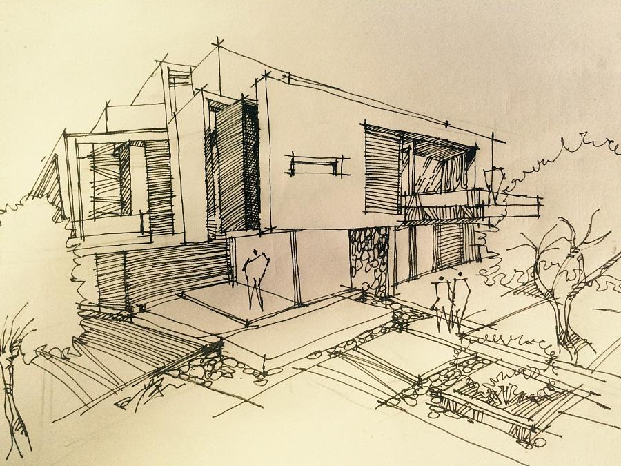 建筑,景观手绘|园林景观/规划|空间/建筑|本末工作坊
