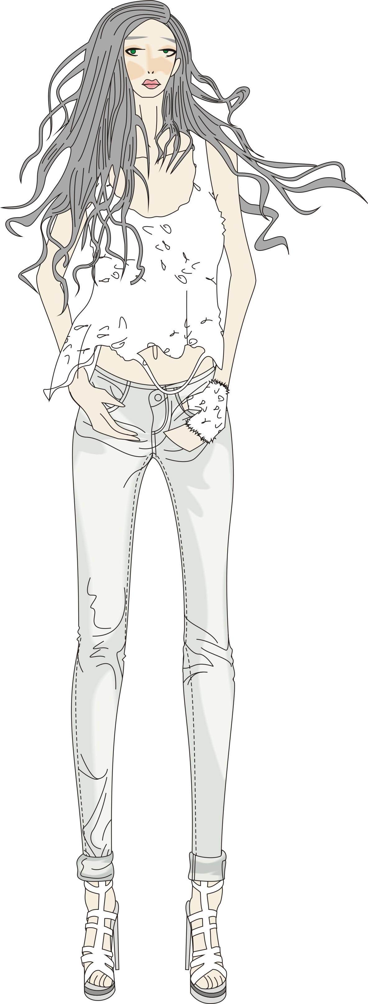 女生衣服设计图手绘