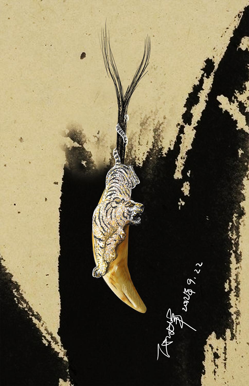 代波军艺术珠宝手绘设计稿!|手工艺|首饰|代波军艺术