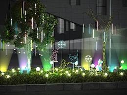 户外大型树木亮化灯光美陈挂树灯定制工厂铭星厂家专业