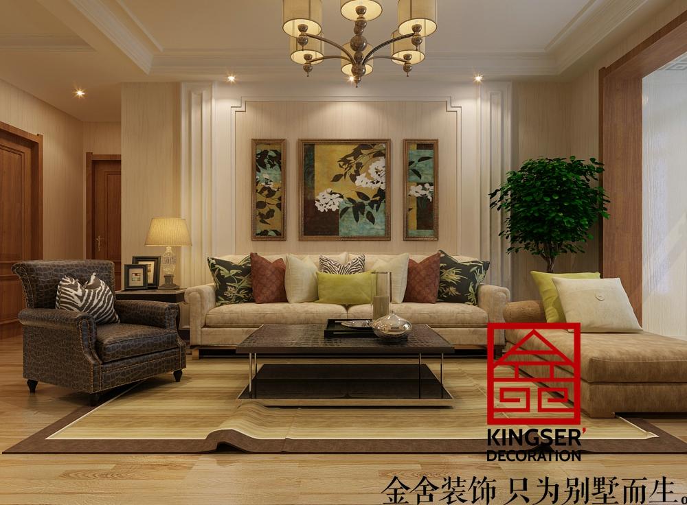 【保利花园装修】110㎡-三室两厅两卫-现代混搭-金舍装饰