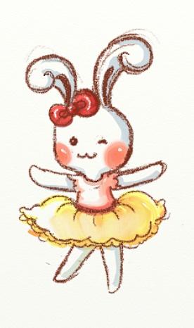 以前画的,一个小兔子的人物设计哦图片